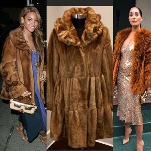 Jones New York FAUX Fur Coat in Honey Brown! LOVE!